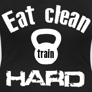 Eat Clean Train Hard - Kettlebell T-Shirts - Women's Scoop Neck T-Shirt