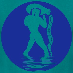 Aquarius horoscope water jug T-Shirts - Men's T-Shirt