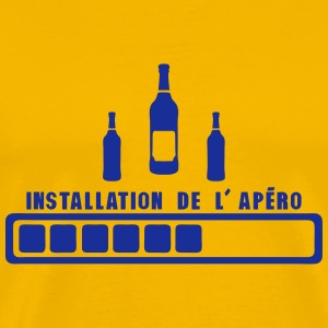 installation de apero humour alcool Tee shirts - T-shirt Premium Homme
