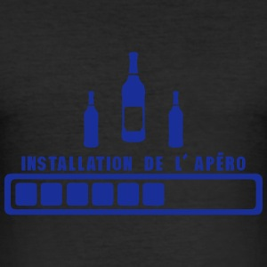 installation de apero humour alcool Tee shirts - Tee shirt près du corps Homme