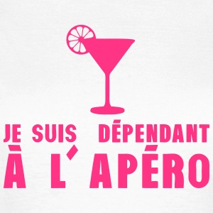 dependant apero verre alcool humour Tee shirts - T-shirt Femme