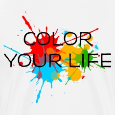 Ink, Paint, Color your life, Splashes, Splatter, T-Shirts