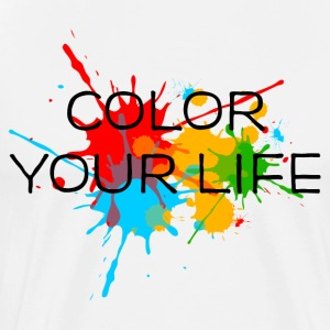 Ink, Paint, Color your life, Splashes, Splatter, T-Shirts - Men's Premium T-Shirt