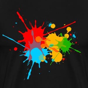 Color, Splashes, Splatter, Colour, stænk, farve,  T-shirts - Herre premium T-shirt