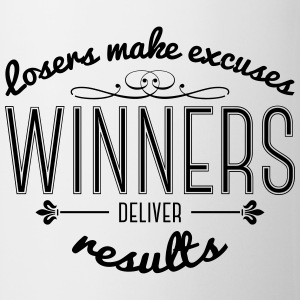 Winners Deliver Results Mugs & Drinkware - Mug