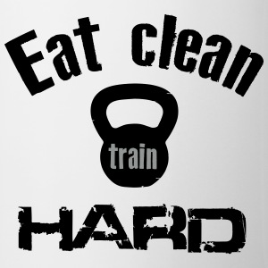 Eat Clean Train Hard - Kettlebell Mugs & Drinkware - Mug