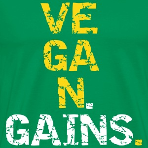 Vegan Gains T-shirts - Mannen Premium T-shirt