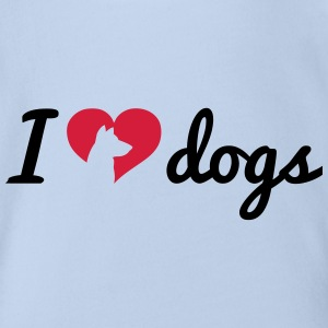 Fancy I Love Dogs Shirts - Baby bio-rompertje met korte mouwen
