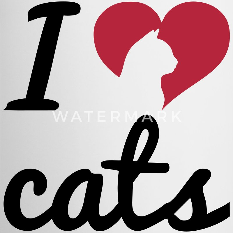 Fancy I Love Cats  Mokken & toebehoor - Mok tweekleurig