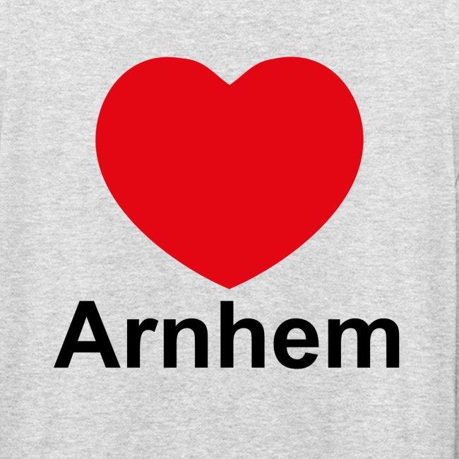 'Ik hou van Arnhem' trui met capuchon