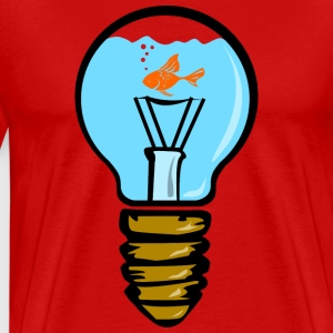 Bulbs aquarium with fish T-Shirts - Men's Premium T-Shirt