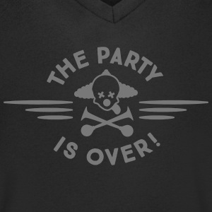 the party is over T-Shirts - Men's V-Neck T-Shirt