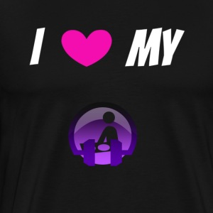 I Love My Disco DJ - Men's Premium T-Shirt