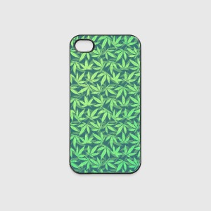 Cannabis / Weed / Marijuana - Pattern (Phone Case) Coques pour portable et tablette - Coque rigide iPhone 4/4s