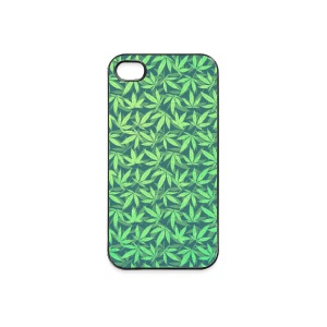 Cannabis / Weed / Marijuana - Pattern (Phone Case) Carcasas para móviles y tablets - Carcasa iPhone 4/4s
