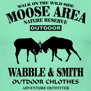 Fighting Moose  T-shirts - Mannen T-shirt