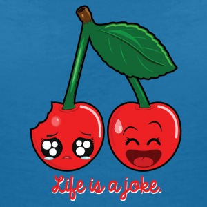 Life is a joke T-Shirts - Women's V-Neck T-Shirt