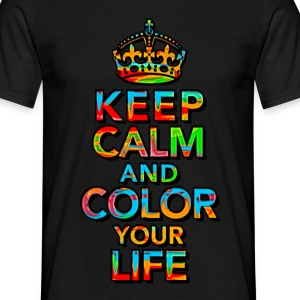 KEEP CALM, music, cool, text, sports, love, retro T-shirts - Herre-T-shirt