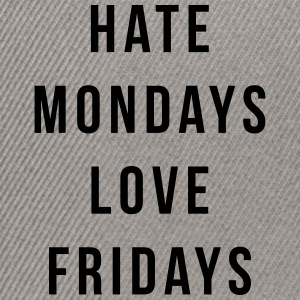 Hate Mondays, Love Fridays Kepsar & mössor - Snapbackkeps