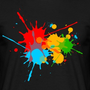 Ink, Paint, Color, Splashes, Splatter, Colour, Fun T-Shirts - Men's T-Shirt
