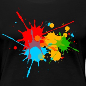 éclaboussures couleur, splash, color, taches Tee shirts - T-shirt Premium Femme