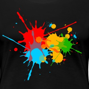 Color, Splashes, Splatter, Colour, farge, sprut,   T-skjorter - Premium T-skjorte for kvinner