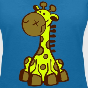 Smiling Giraffe T-Shirts - Women's V-Neck T-Shirt