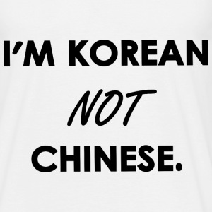 I'M KOREAN NOT CHINESE. Tee shirts - T-shirt Homme