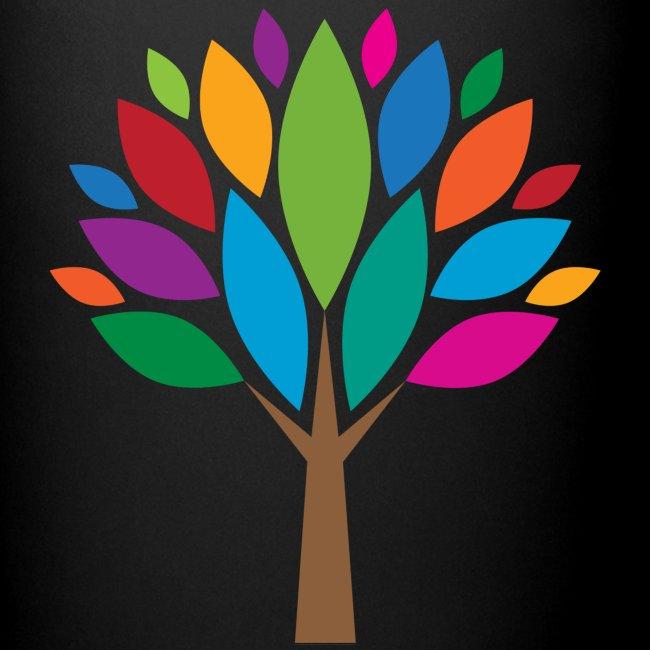 Bunte-Blätter-Baum-Tasse