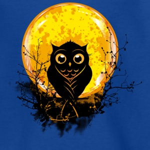 An owl in the forest under a full moon Shirts - Kids' T-Shirt