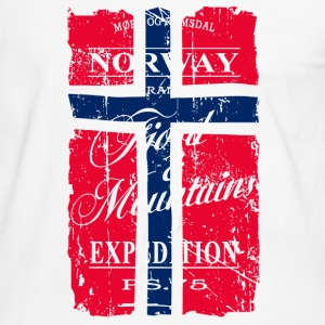 Norway Vintage Flag T-skjorter - Kontrast-T-skjorte for menn