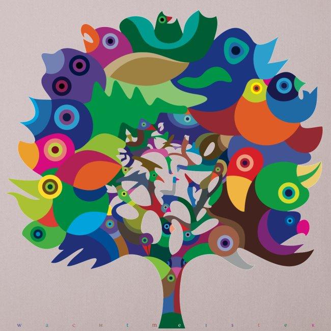 Overbirded Tree Kissen