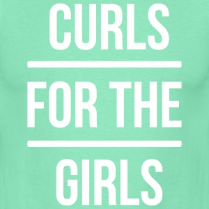 curls for the girls T-shirts - Mannen T-shirt