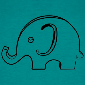 Olifant toy kind baby hout T-shirts - Mannen T-shirt