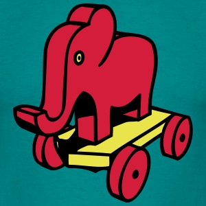 Olifant speelgoed kind baby T-shirts - Mannen T-shirt