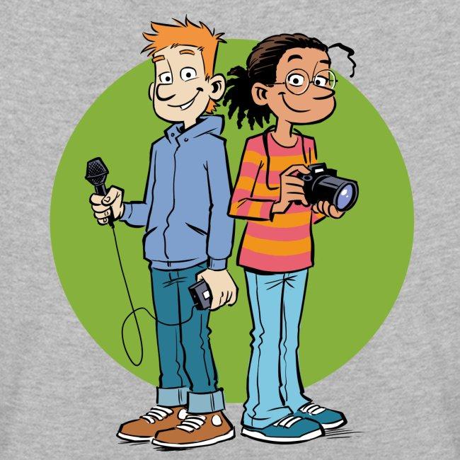 Kinder Premium Langarmshirt Reporter