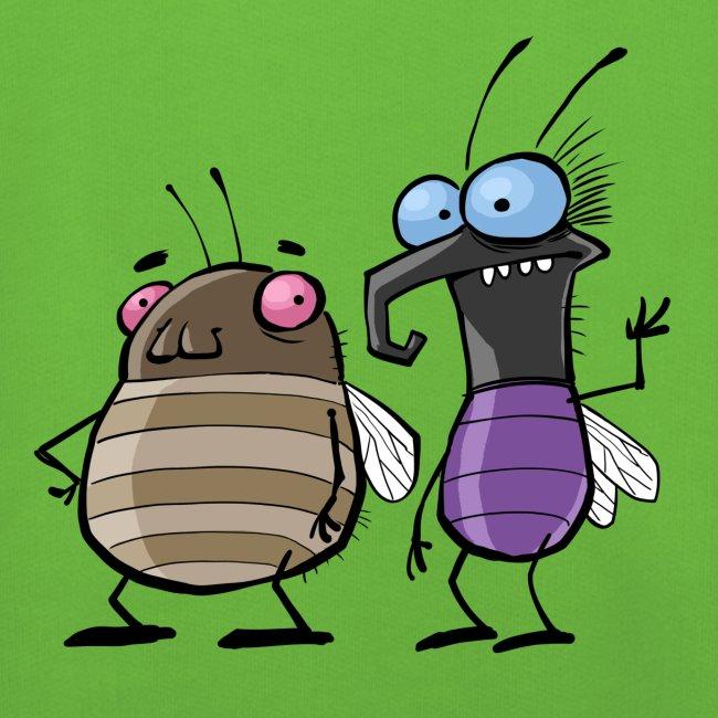Kinder Kapuzenpullover Insekten