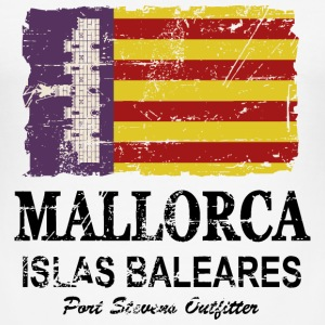 Mallorca Vintage Flag T-Shirts - Men's Slim Fit T-Shirt