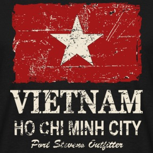 Vietnam Vintage Flag Tee shirts - T-shirt Homme