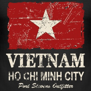 Vietnam Vintage Flag T-Shirts - Männer Slim Fit T-Shirt