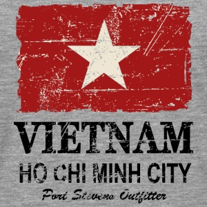 Vietnam Vintage Flag Long sleeve shirts - Men's Premium Longsleeve Shirt
