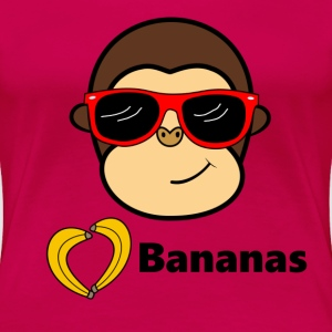 Monkey loves Bananas T-Shirts - Frauen Premium T-Shirt