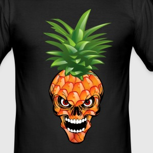 Ananas Skull - Tee shirt près du corps Homme
