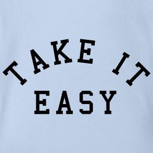 Take It Easy Shirts - Organic Short-sleeved Baby Bodysuit