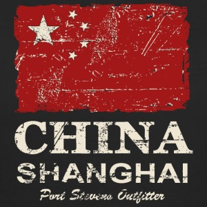 China Vintage Flag T-Shirts - Frauen Bio-T-Shirt