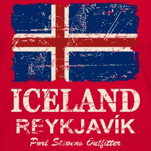 Iceland Vintage Flag Tee shirts - T-shirt contraste Homme