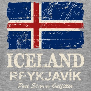 Iceland Vintage Flag Long sleeve shirts - Men's Premium Longsleeve Shirt