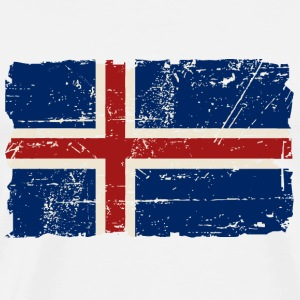 Iceland Vintage Flag Tee shirts - T-shirt Premium Homme