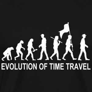 Evolution Time Travel  w. Text T-Shirts - Männer Premium T-Shirt