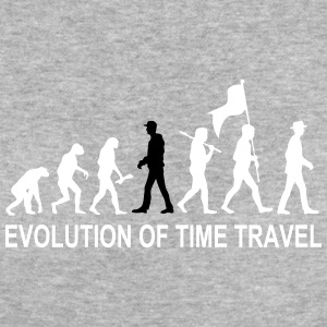 Evolution Time Travel 2C w. Text T-Shirts - Frauen Bio-T-Shirt